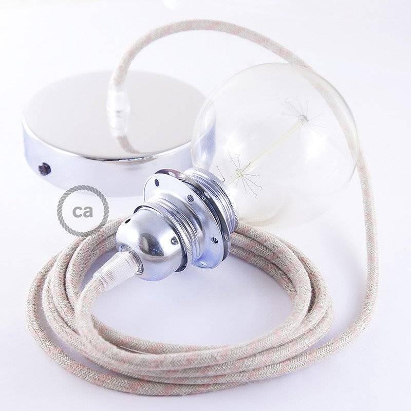 Câble Vertigo rond avec tissage en Jute avec Fil de Cuivre ERR04