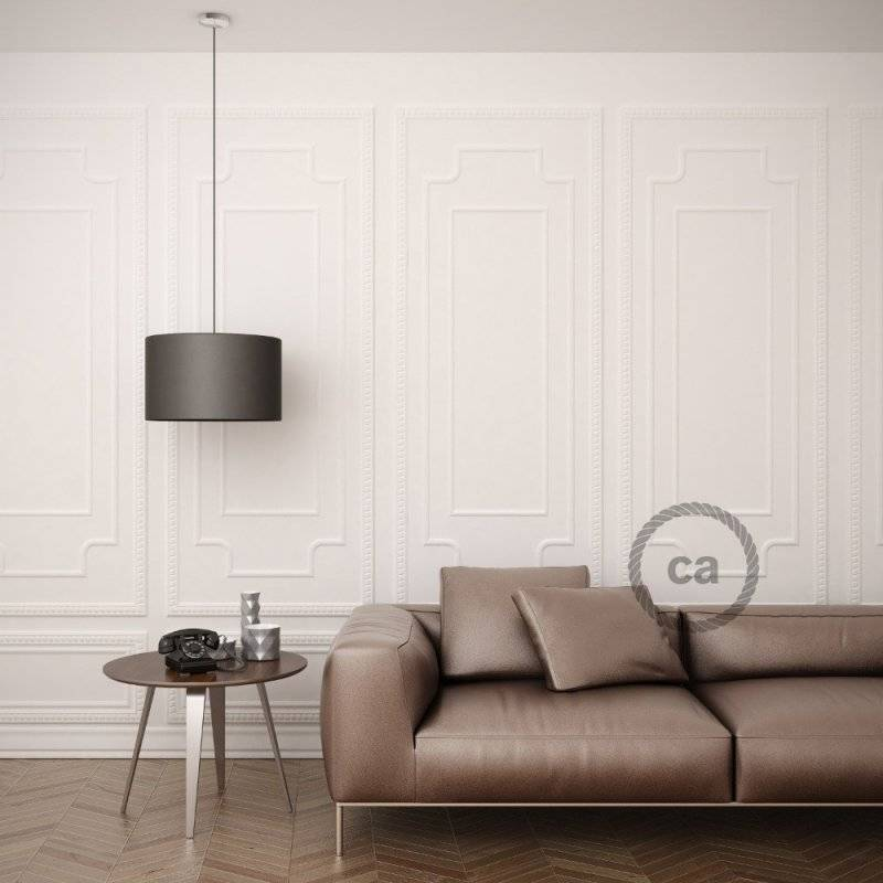 MoCo Posaluce Cubetto en liège naturel, avec câble textile RM11, interrupteur et fiche 2 pôles
