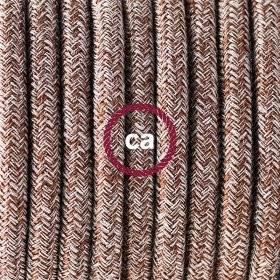 MoCo Posaluce Cubetto en liège naturel, avec câble textile RC63, interrupteur et fiche 2 pôles