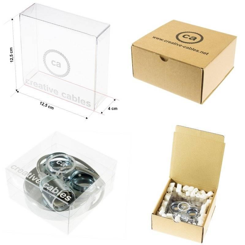 MoCo Posaluce Cubetto en liège naturel, avec câble textile RX10, interrupteur et fiche 2 pôles