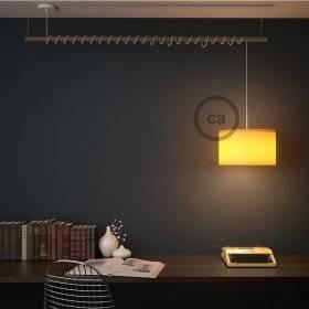 MoCo Posaluce Cubetto en liège naturel, avec câble textile RX11, interrupteur et fiche 2 pôles