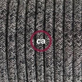 Corde 2XL, câble électrique 3x0,75. Revêtement en tissu bordeaux foncé brillant. Diamètre 24mm.