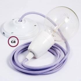 Corde 3XL, câble électrique 3x0,75. Revêtement en lin naturel et coton brut. Diamètre 30mm.