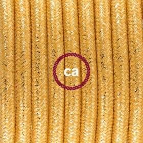 Câble électrique pour Guirlande recouvert en tissu Effet soie Gris CM03