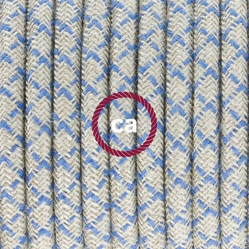 Cordon pour lampe, câble RD65 Losange Bleu Steward 1,80 m. Choisissez la couleur de la fiche et de l'interrupteur!