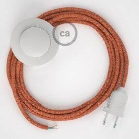 Cordon pour lampadaire, câble RX07 Coton Indian Summer 3 m. Choisissez la couleur de la fiche et de l'interrupteur!