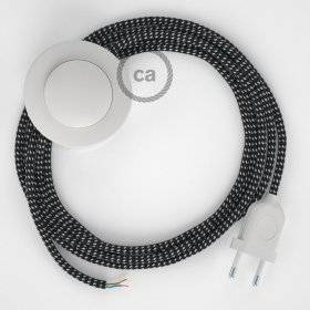 Cordon pour lampadaire, câble RT41 Effet Soie Étoiles 3 m. Choisissez la couleur de la fiche et de l'interrupteur!