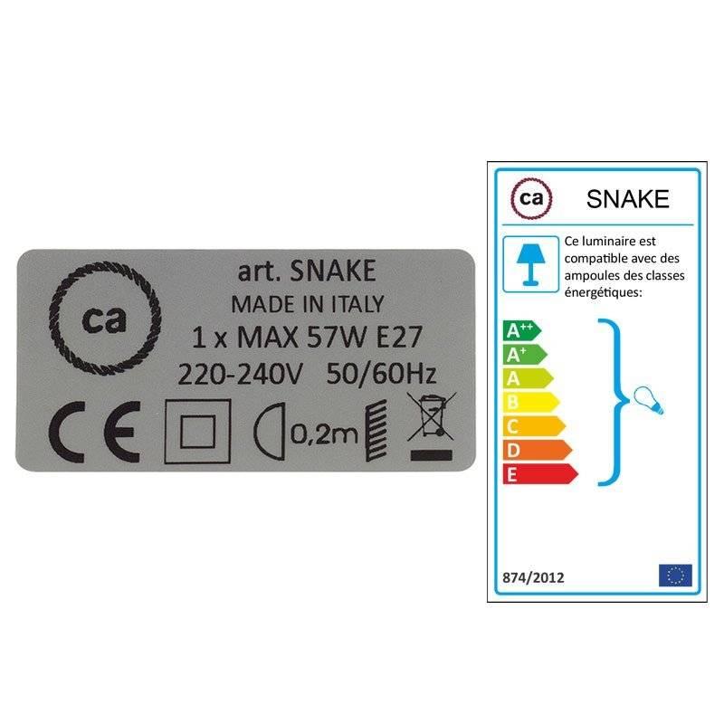 Créez votre Snake Paillettes et Lin Naturel Marron RS82 et apportez la lumière là où vous souhaitez.