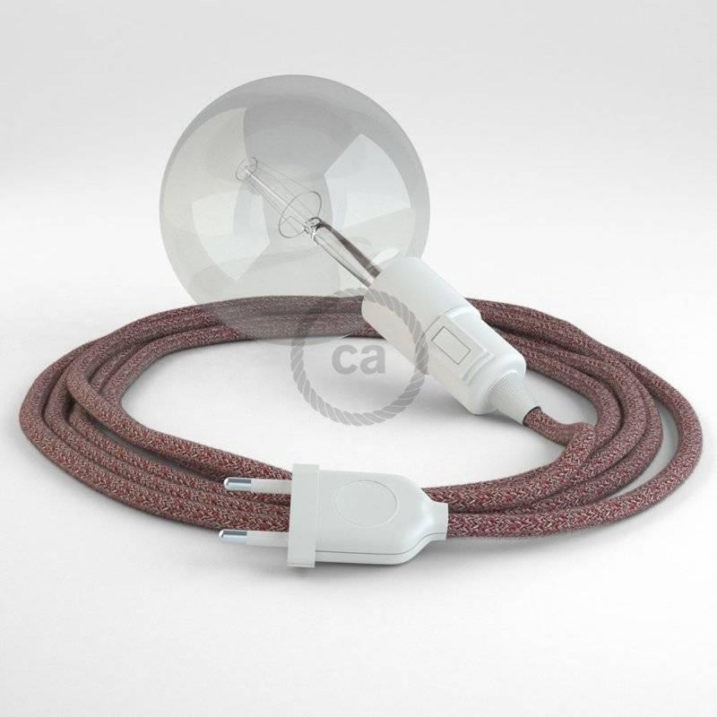 Créez votre Snake Paillettes et Lin Naturel Rouge RS83 et apportez la lumière là où vous souhaitez.