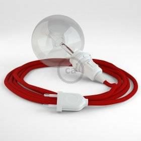 Créez votre Snake pour Abat-jour Effet Soie Rouge RM09 et apportez la lumière là où vous souhaitez.