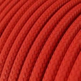 Fil Électrique Rond Gaine De Tissu De Couleur Effet Soie Tissu Uni Rouge RM09