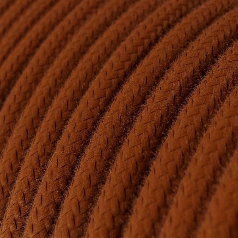 Fil Électrique Rond Gaine De Tissu De Couleur Coton Tissu Uni Daim RC23