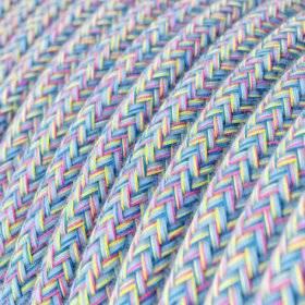 Fil Électrique Rond Gaine De Tissu Coton Lollipop RX09