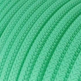 Fil Électrique Rond Gaine De Tissu De Couleur Effet Soie Tissu Uni - Opal RH69
