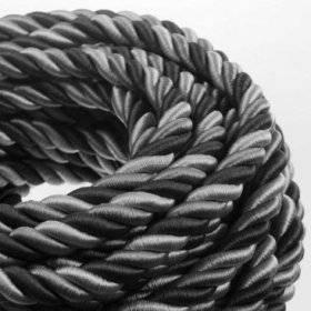 Corde 2XL, câble électrique 3x0,75. Revêtement en tissu lucide Orleans. Diamètre 24mm.