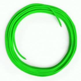 Câble Lan Ethernet Cat 5e sans connecteurs RJ45 - RF06 Effet Soie Vert Fluo