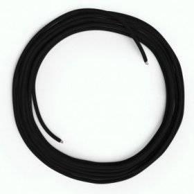 Câble Lan Ethernet Cat 5e sans connecteurs RJ45 - RM04 Effet Soie Noir