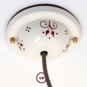 Kit rosace en céramique avec Decoro 81-Bacche