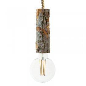 Suspension fabriquée en Italie avec corde XL avec douille à écorce Large