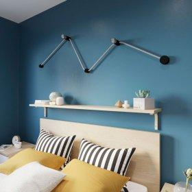 Kit Wiggle Filé system - avec câbles pour guirlande lumineuse de 3 mètres et 5 composants en bois verni noir pour intérieur