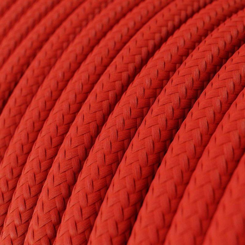 Suspension fabriquée en Italie avec câble textile, abat-jour Mini Cloche XS en céramique
