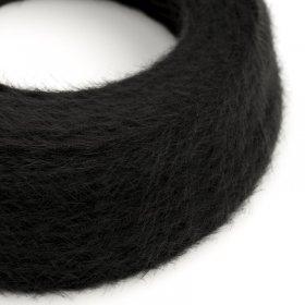 Câble électrique Torsadé Marlene recouvert de tissu aspect Fourrure Noir Uni TP04