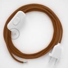 Cordon pour lampe, câble RM22 Effet Soie Whiskey 1,80 m. Choisissez la couleur de la fiche et de l'interrupteur!