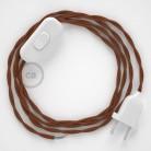 Cordon pour lampe, câble TC23 Coton Daim 1,80 m. Choisissez la couleur de la fiche et de l'interrupteur!