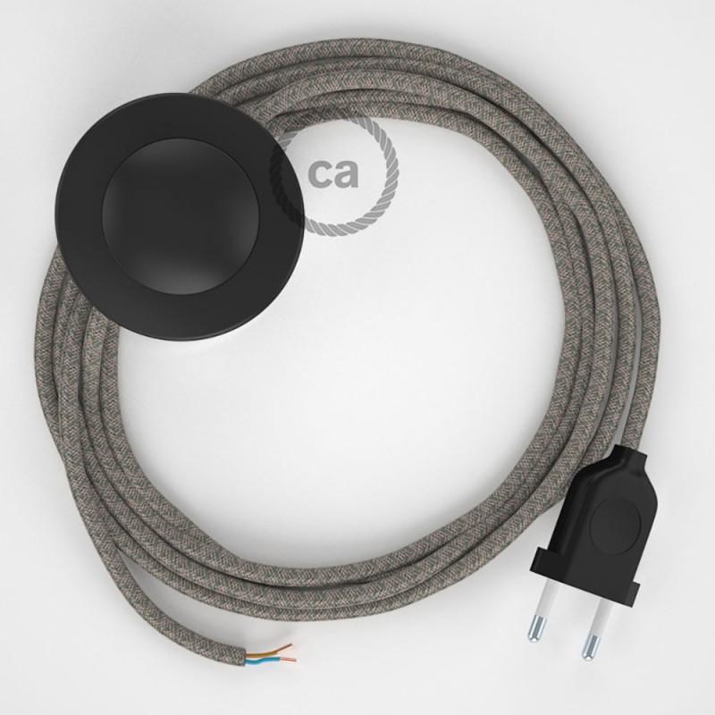 Cordon pour lampadaire, câble RD62 Losange Vert Thym 3 m. Choisissez la couleur de la fiche et de l'interrupteur!
