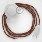 Cordon pour lampadaire, câble TC23 Coton Daim 3 m. Choisissez la couleur de la fiche et de l'interrupteur!