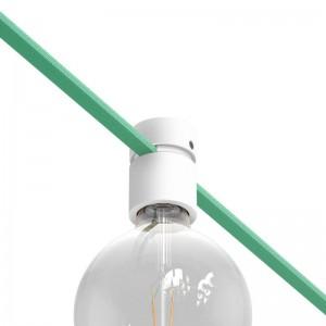 Douille en bois pour câbles de guirlandes lumineuses et Filé system. Fabriqué en Italie