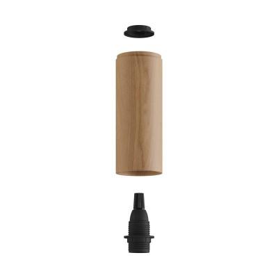 Tub-E14, tube en bois pour spots avec douille double anneau E14