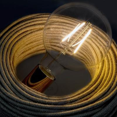 Ampoule Transparente LED Globo G125 Filament Long 4W Décorative Vintage 2200K