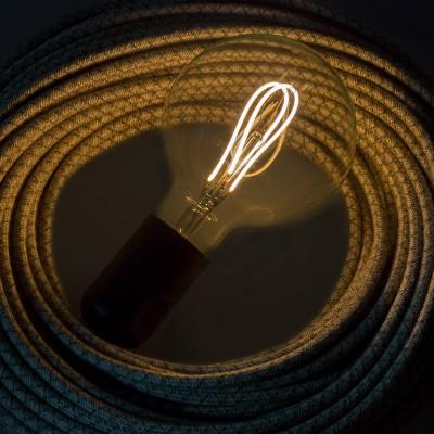 Ampoule Transparente LED - Globe G95 Filament courbe avec Double Boucle 5W E27 Dimmable 2200K
