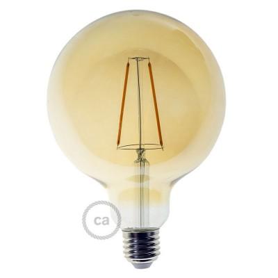 Ampoule Dorée LED - Globe G125 Filament Long 4W E27 Vintage Décorative 2000K