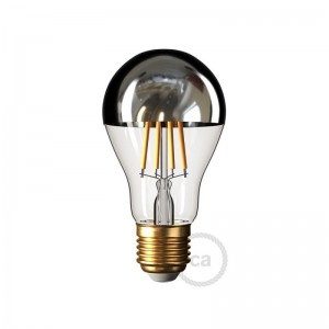 Ampoule LED Goutte A60 Demi Sphère Argentée 7W E27 Dimmable 2700K